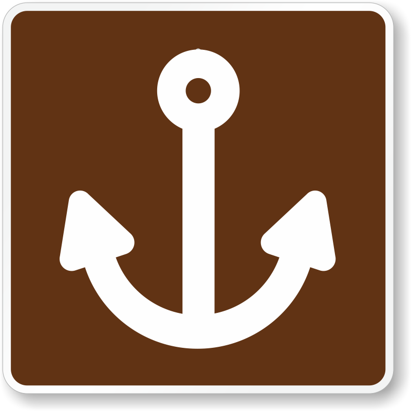 Marina, MUTCD Guide Sign For Campground, SKU: X-RS-053