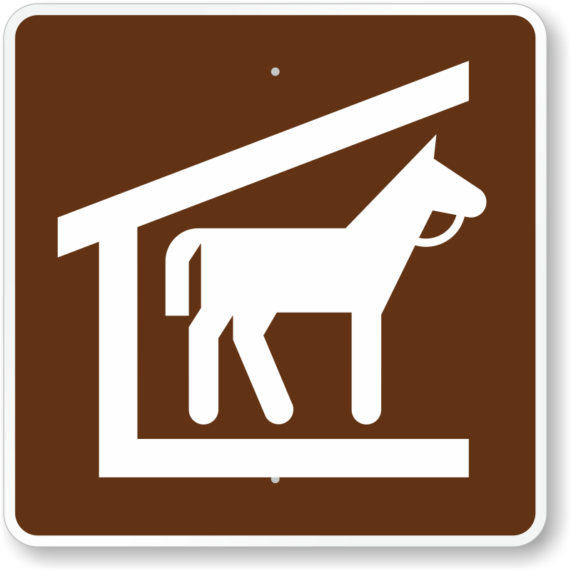 Stable, MUTCD Guide Sign For Campground, SKU: X-RS-073