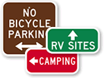 Campground Directional Signs