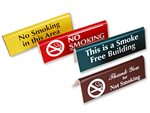 Engraved No Smoking Sign