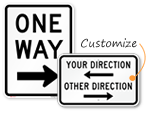 Directional Entrance Signs