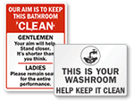 Keep Bathroom Clean Signs