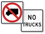 No Trucks Signs
