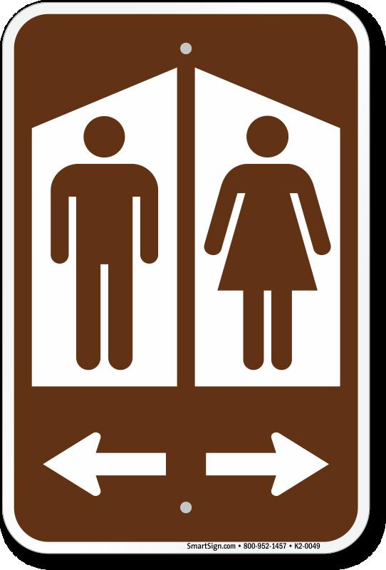 Man Woman Graphic And Arrow Sku K2 0049, Men And Women Bathroom Sign