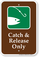 Catch And Release Only Fishing Sign