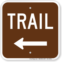 Trail Left Arrow Campground Sign