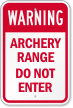 Archery Range Sign