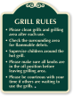 Grill Etiquette SignatureSign, 24 in. x 18 in.