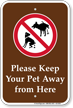 Pets Not Allowed Sign
