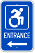 Entrance sign with Accessible Icon