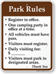 Campground Rules Sign