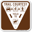Campground Hiking Trail Sign