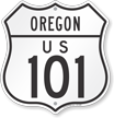 Oregon Route Marker Shield Sign