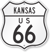 Kansas Route Marker Shield Sign