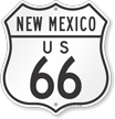 New Mexico Route Marker Shield Sign