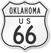 Oklahoma Route Marker Shield Sign