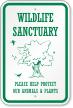 Save Wildlife Sign