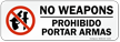 Bilingual Weapons Prohibited Label
