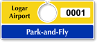 Plastic ToughTags™ Parking Permits for Park and Fly