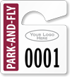 Plastic ToughTags™ Park-and-Fly Parking Permits