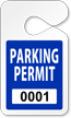 Custom Clean-Cut Parking Permit Hang Tag