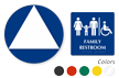 California Wall And Door Family Restroom Sign Kit