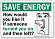 Save Energy Sign
