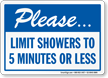 Save Water In Shower Sign