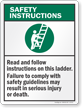Ladder Safety Sign