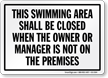 New Jersey Pool Sign