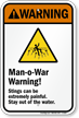 Man-o-War Warning! – Stings can be extremely painful. Stay out of the water. (with graphic)