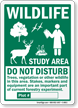 Wildlife Study Area Sign
