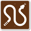 MUTCD Campground Guide Snake Warning Sign